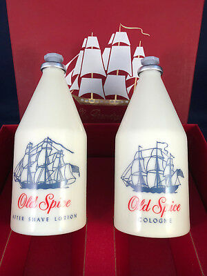 Vintage Old Spice After Shave & Cologne Ship Recovery Star Cap Gift Box Set