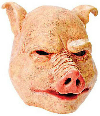 Horror Pig Evil Butcher Latex Mask Scary Halloween Fancy Dress Costume Outfit