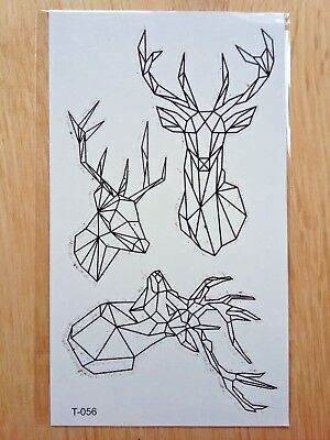 DEER TEMPORARY TATTOOS 110mm X 60mm T056