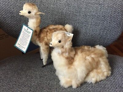 SERRV International Peru Llama with fluffy fur - Lot of 2  NWT