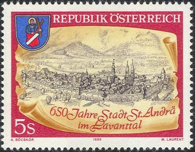 Austria 1989 St Andra/Church/Clock/Buildings/Architecture/Heritage 1v (a1139a)