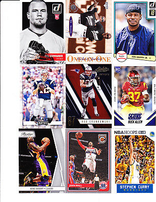 Lot Of 99 Sports Cards- Michael Jordan-Kyle Schwarber Rookie-Steph Curry+Jersey