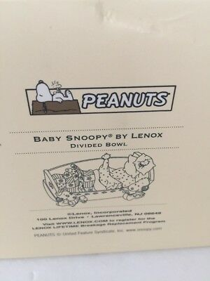 Lenox Baby Snoopy Porcelain Divided Bowl new in box