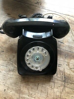 Original Vintage Gpo 746 Telephone Rotary Dial Desk Phone Good Working Condition