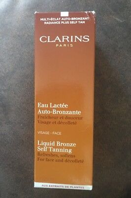 Clarins Liquid Bronze Self Tanning - Face & Decollete 125ml  BOXED
