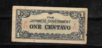 PHILIPPINES #101b 1942 VG USED CENTAVO SUPER BANKNOTE PAPER MONEY CURRENCY NOTE