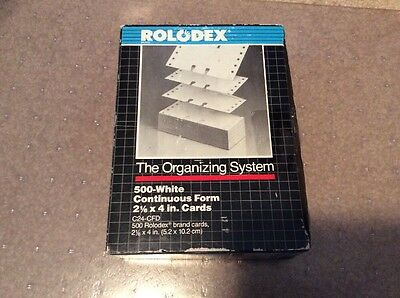 """Fast Ship 500 Count Rolodex Continuous Form Cards 2 1/16"""" x 4"""" No. C24-CFD White"""