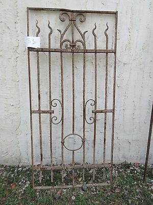 Antique Victorian Iron Gate Window Garden Fence Architectural Salvage #753
