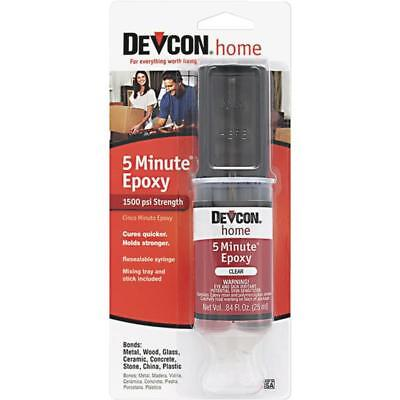 3 Pk Devcon 1 Oz. Heavy-Duty High-Quality Performance 5 Minute Epoxy Syringe