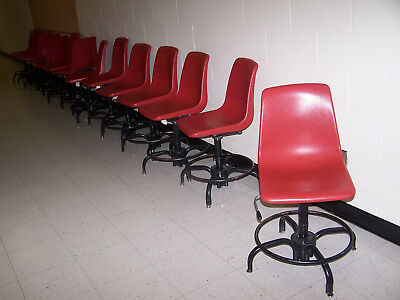 """used"" Lot Of 14-  Plastic Seat/ Metal Base Swivel  Chairs -Pick Up Only"