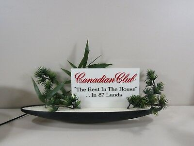 """Canadian Club Whiskey 18 1/2"""" Electric Light Up Lighted Boat Sign"""