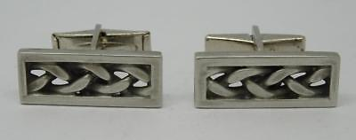 Vintage Jorgen Jensen Cufflinks Pewter Danish Denmark Cuff Links