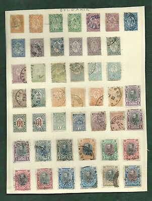 Kingdom of Bulgaria nice page of mainly used very old stamps