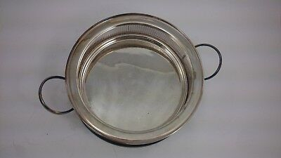 BRS APOLLO SHEFFIELD USA Nickel Silver Plated SIFTER w Handle  2 PC. metal ART