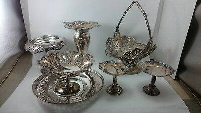 BSCEP OLYMPIC ROGERS Canada FORBES SILVER PLATE Mixed LOT #2 Set Filigree 7 PC.