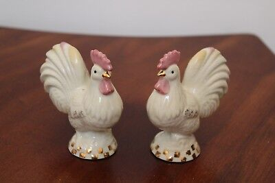 "Lenox China ""rise N Shine"" Rooster Salt & Pepper Shakers"