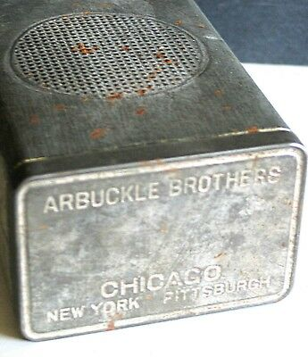 Arbuckle Brothers Vintage Metal COFFEE TIN New York Chicago Pittsburgh FREE SH