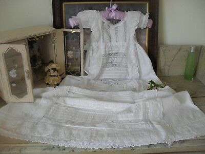 Beautiful Antique Hand Worked Victorian Christening Gown