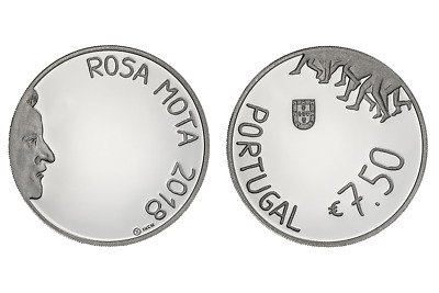 Portugal  7,5 Euro Silber 2018 Rosa Moto Proof
