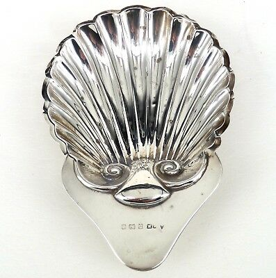 Silver Clam Shell Butter Dish 1904 Hallmarked Sterling Henry Mathews Edwardian