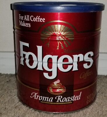 Holy Grail Receptacle Folger's Aroma Roasted Coffee Can Blue Lid Big Lebowski