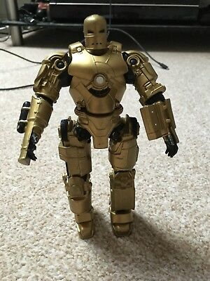 Iron Man Basic Movie Series Gold Variant Action Figure 2008 Marvel Rare