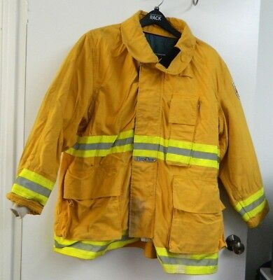 FIRE-DEX Turnout Gear Firefighter Bunker Padded Jacket Yellow 54x35