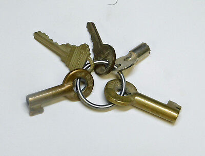 Set of Keys for Union Pacific and Santa Fe Diesel Train Engines circa 1985