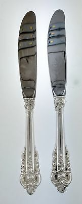 Set Of 2 Wallace Grande Baroque Sterling Silver Butter Spreader Knives 6 1/4""