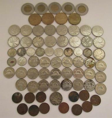 Coin Lot Canadian Canada Dollars Cents Nikels Dimes Collection $ Need Exchange $