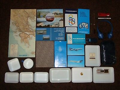 OLYMPIC AIRWAYS extremely rare huge Greek Airlines vintage collection
