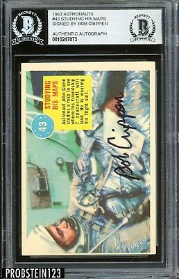 Bob Crippen Signed 1963 Astronauts #43 Studying His Maps AUTO BGS BAS