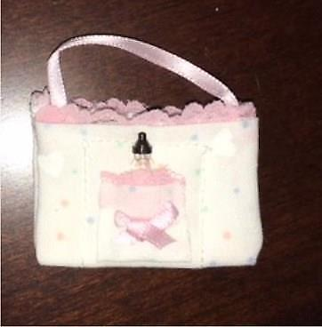 Miniature Dollhouse 1:12 Scale Baby Tote Bag - Pink - Max7