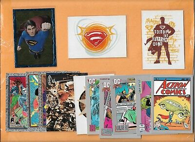 (20) Topps Impel Skybox Dc Comics Sp Lot ($25) Superman Promo #0 Tattoos Chrome