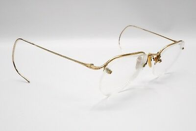 Antique Semi-Rimless Rx Eyeglasses 1/10 12k Gold Filled AO American Optical 8212