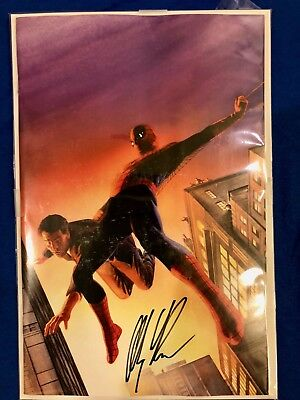 Amazing Spider-Man #1 2018 SDCC Cover C Variant Exclusive Signed Alex Ross w/COA