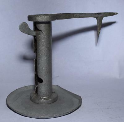 Antique Mine Wall Mount CANDLE HOLDER w Spike & Adjustable Settings - Log Cabin