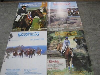 4 x 1986 Hoofs and Horns Magazines - very good condition
