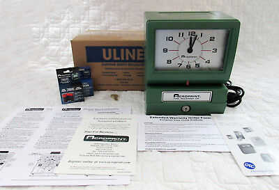 Acroprint Automatic Time Clock Model: 150NR4 w/ Two Keys Two Ribbons All Manuals