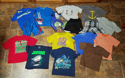 Fun Lot of 16 Boys Size 6-7 Summer Clothes (Lot D)