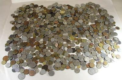Huge Lot Of Foreign Coins 13 Pounds Straight Frm Local Estate Not Picked Through