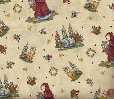Little Red Riding Hood Red Rooster fabric