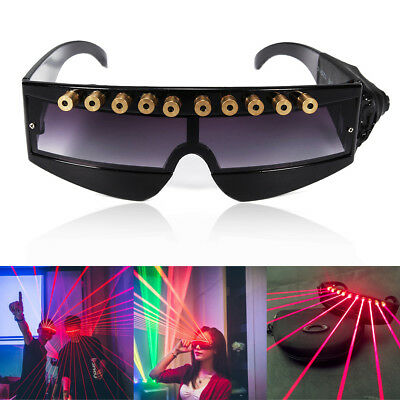 LED Stage Lights Laser Glasses Goggles Christmas Halloween Party DJ Dancer Gift