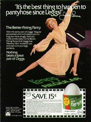 Best thing to happen to pantyhose since L'eggs. Juliet Prowse ad 1979
