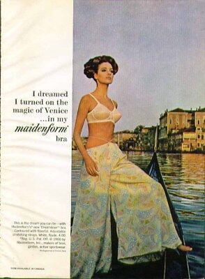 I dreamed I turned on the magic of Venice in my Maidenform bra ad 1966