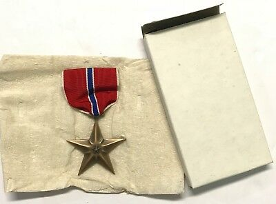 Original WWII 1944 Dated Bronze Star Medal In Original Box