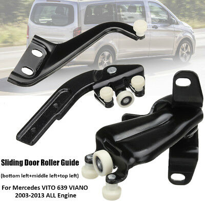 For Mercedes VITO W639 VIANO Left Sliding Door Roller Guide Top Middle Bottom
