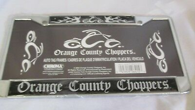 Orange County Choppers Auto License Plate Cover Trim Metal Chrome & Black~ #38