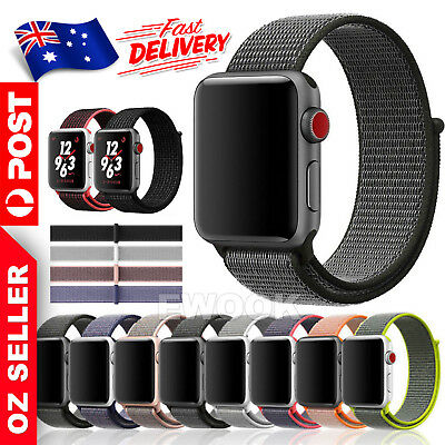 Replace Woven Nylon Loop Bracelet Sport Watch Band Strap For Fitbit Versa