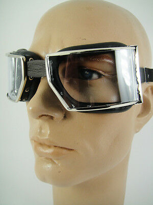 NEW GOGGLES Classic Motorcycle Rider Aviator OLD SCHOOL VINTAGE RED BARON Type